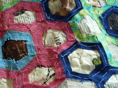 vintage quilt, unfinished, back detail